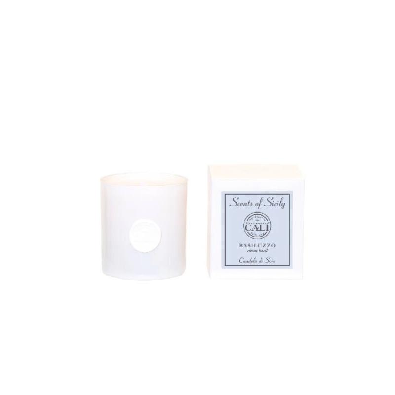 Scents of Sicily Collection - 9 oz soy candle - Basiluzzo (citrus basil) - Scents of Sicily Collection - 9 oz soy candle - Basiluzzo (citrus basil)