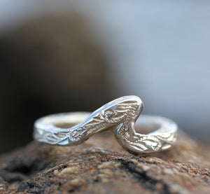 2mm Sterling Silver Pipeline Wave Ring - Hawaiian Jewelry