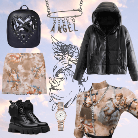 aesthetic angelcore style - cosmiquestudio - aesthetic outfit