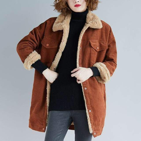CORDUROY BASIC LONG JACKET