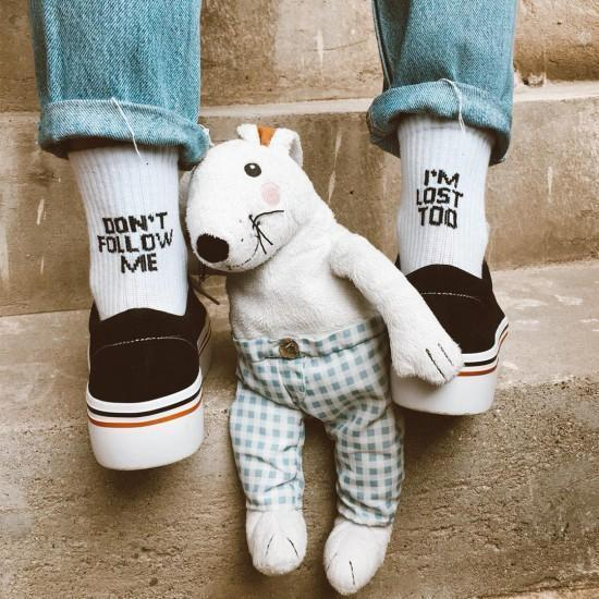 Don't Follow Me I'm Lost Too Socks - Cosmique Studio Aesthetic Outfits