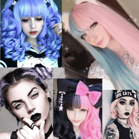 pastel goth hair styles - cosmiquestudio - aesthetic clothing