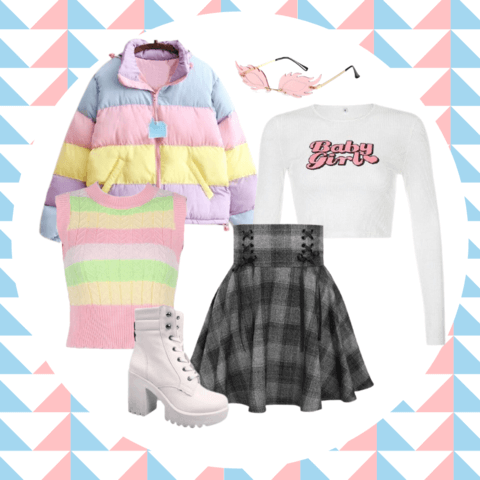 pastel goth style outfit ideas - cosmiquestudio - aesthetic clothes