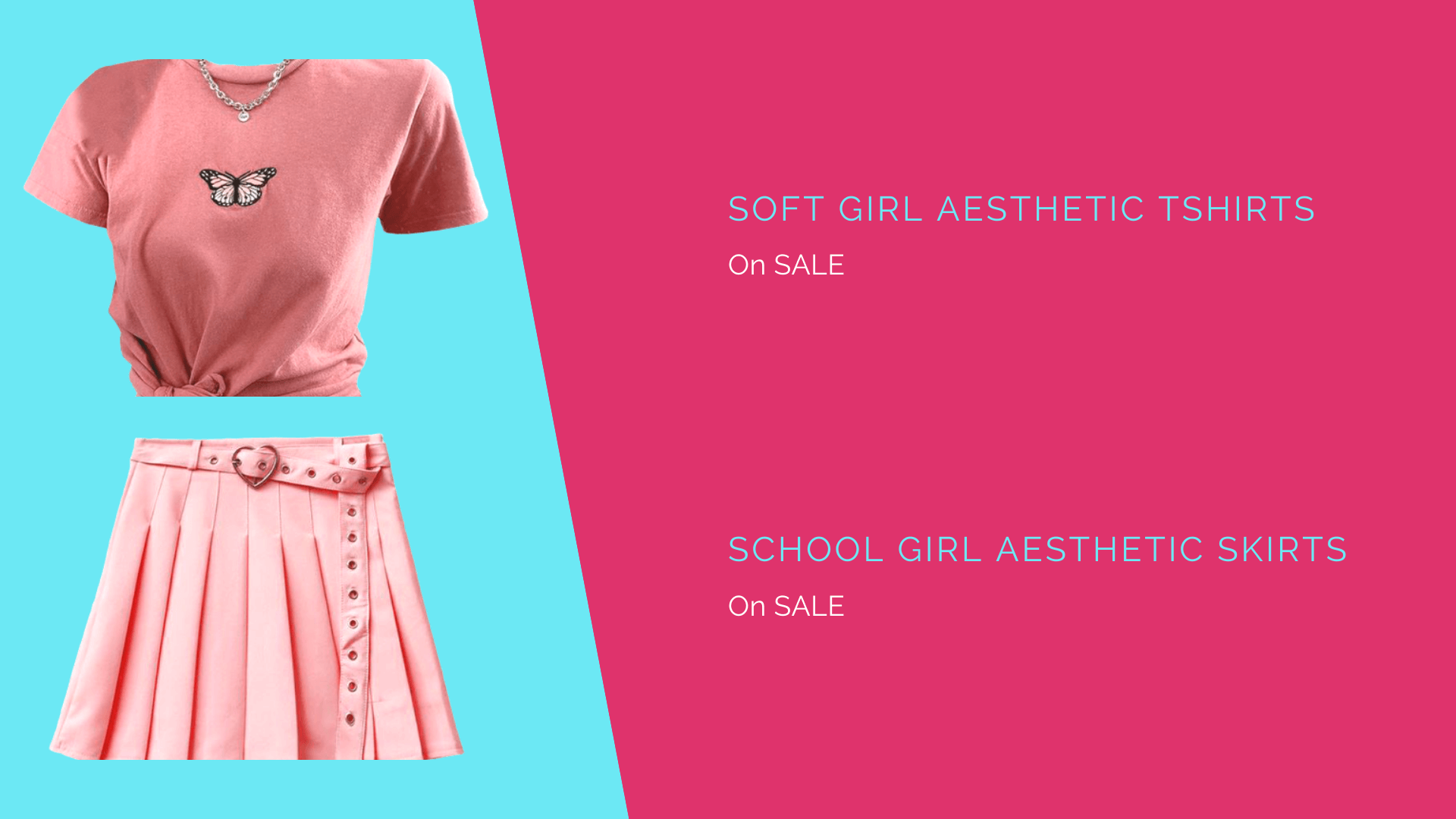 Soft girl aesthetic tshirts and school girl aesthetic skirts - cosmique studio
