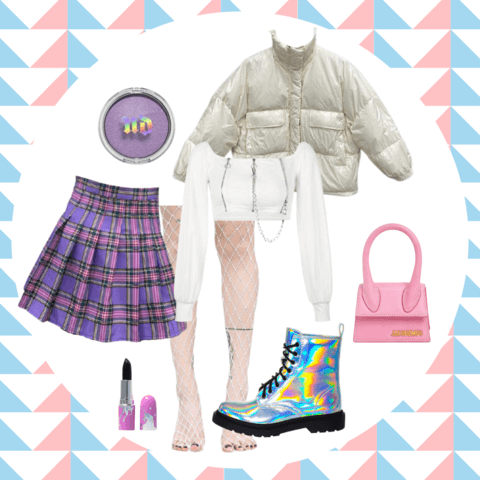 pastel goth style outfit ideas - cosmiquestudio - aesthetic outfits