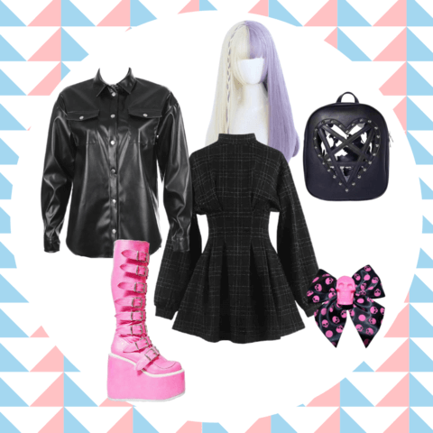 pastel goth style outfit ideas - cosmiquestudio - aesthetic style
