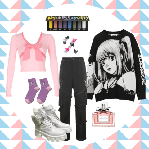 pastel goth style outfit ideas - cosmiquestudio - aesthetic clothing store