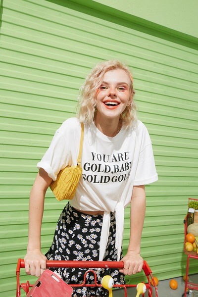 YOU ARE GOLD BABY SOLID GOLD TEE - Cosmique Studio
