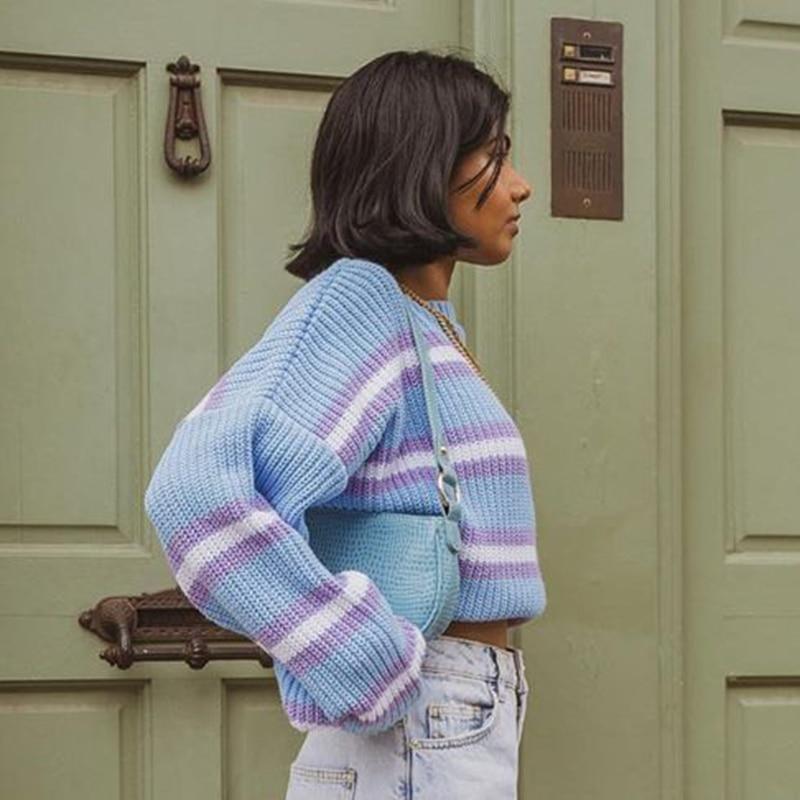 90S AESTHETIC STYLE KNITTED SWEATER-aesthetic-clothing-cosmiquestudio.com