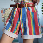 90S AESTHETIC VINTAGE COLORED SHORTS-Cosmique Studio - Aesthetic Clothing