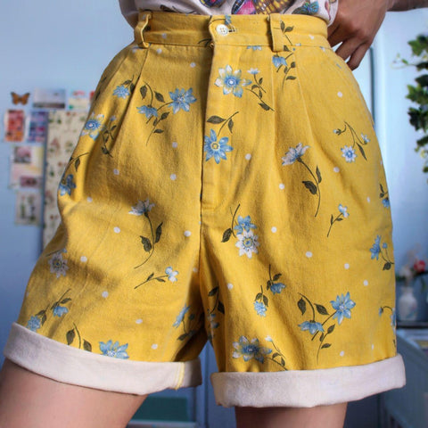 90S AESTHETIC VINTAGE SHORTS-Cosmique Studio - Aesthetic Clothing