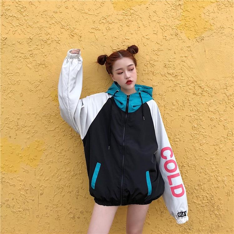 90'S AESTHETIC ZIPPER JACKET - Cosmique Studio - Aesthetic Outfits