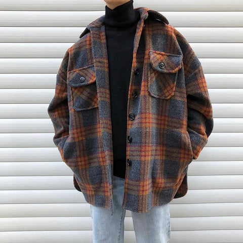 90S VINTAGE MEN JACKET-Cosmique Studio - Aesthetic Clothing