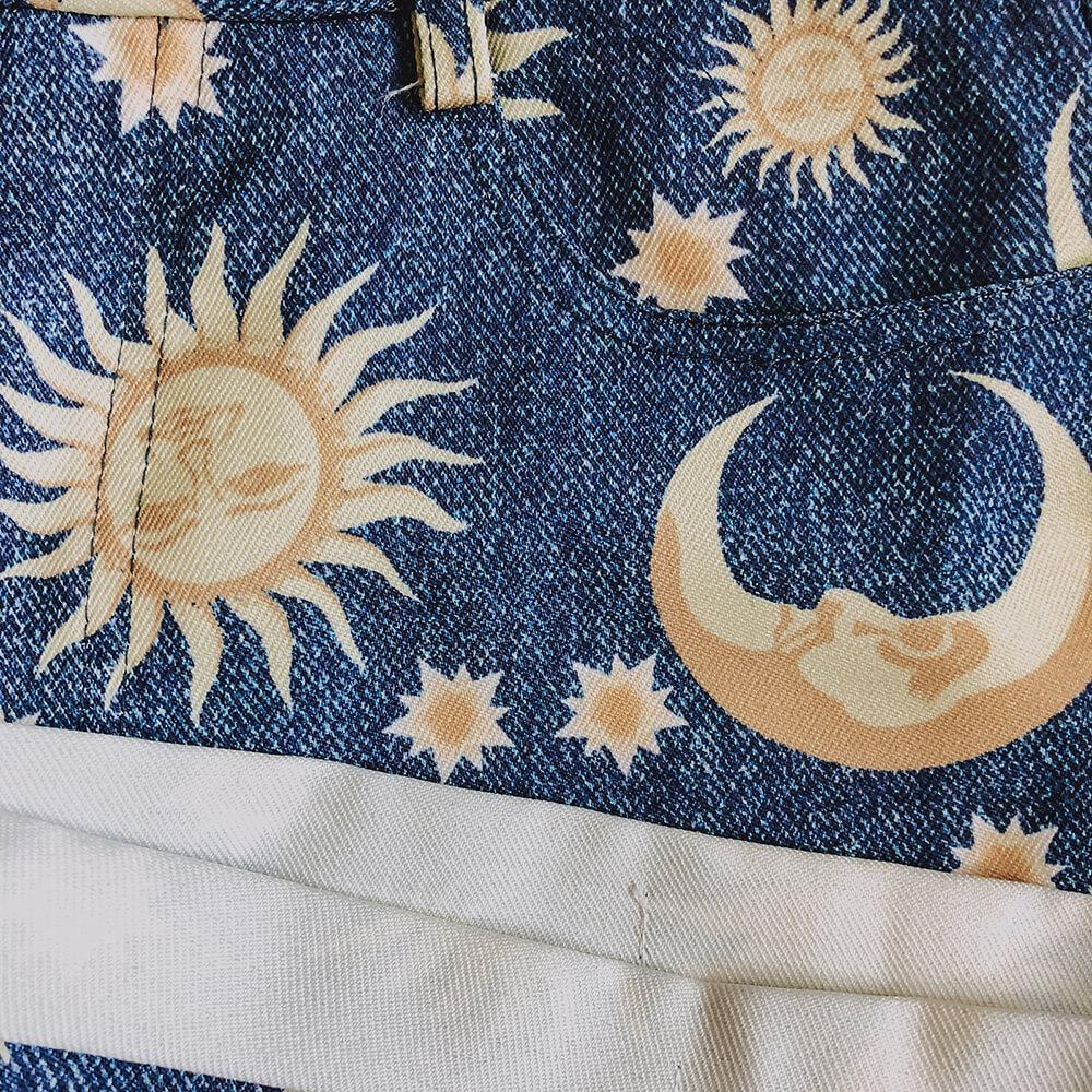 sun moon stars shorts - cosmiquestudio