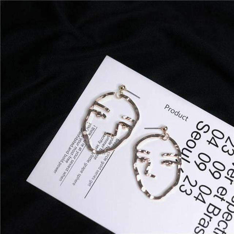ABSTRACT PORTRAIT EARRINGS-Cosmique Studio