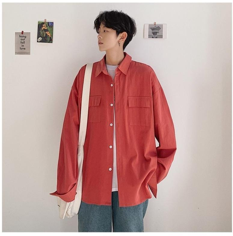 AESTHETIC BOY CASUAL SHIRT-Cosmique Studio-Aesthetic Clothing Store
