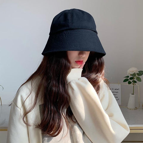 AESTHETIC KOREAN STYLE COLORED BUCKET HAT-Cosmique Studio