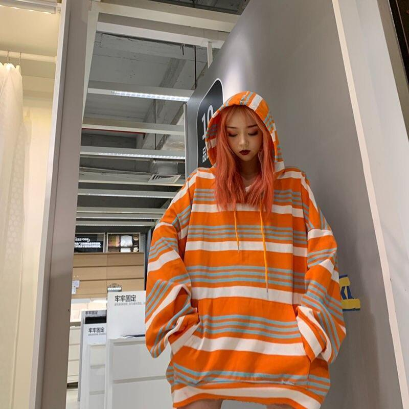 AESTHETIC KOREAN STYLE OVERSIZED HOODIE-Cosmique Studio