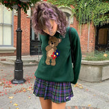AESTHETIC STYLE BEAR SWEATER-aesthetic-clothing-cosmiquestudio.com
