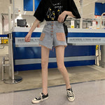 AESTHETIC ULZZANG DENIM SHORTS SKIRT - Cosmique Studio