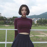 AESTHETIC VINTAGE SLIM CROP TOP - Cosmique Studio