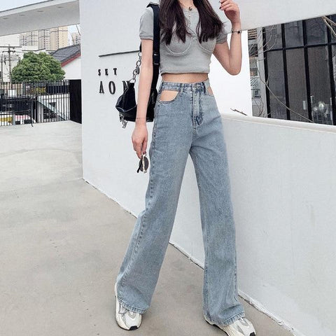 AESTHETIC VINTAGE STYLE PENCIL PANTS-Cosmique Studio-Aesthetic-Egirl-Grunge-Clothing