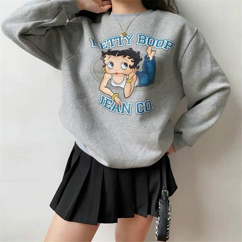 AMERICAN VINTAGE BETTY BOOP SWEATSHIRT-Cosmique Studio-Aesthetic-Outfits