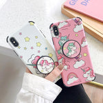 ANTI-KNOCK SOFT SILICONE KAWAII UNICORN PHONE CASE-Cosmique Studio-Aesthetic Clothing Store
