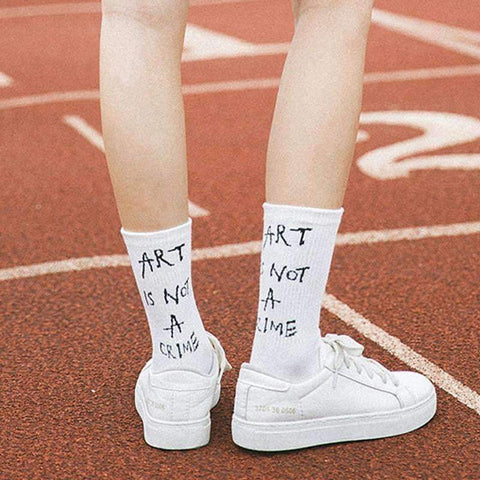 ART IS NOT A CRIME SOCKS-Cosmique Studio