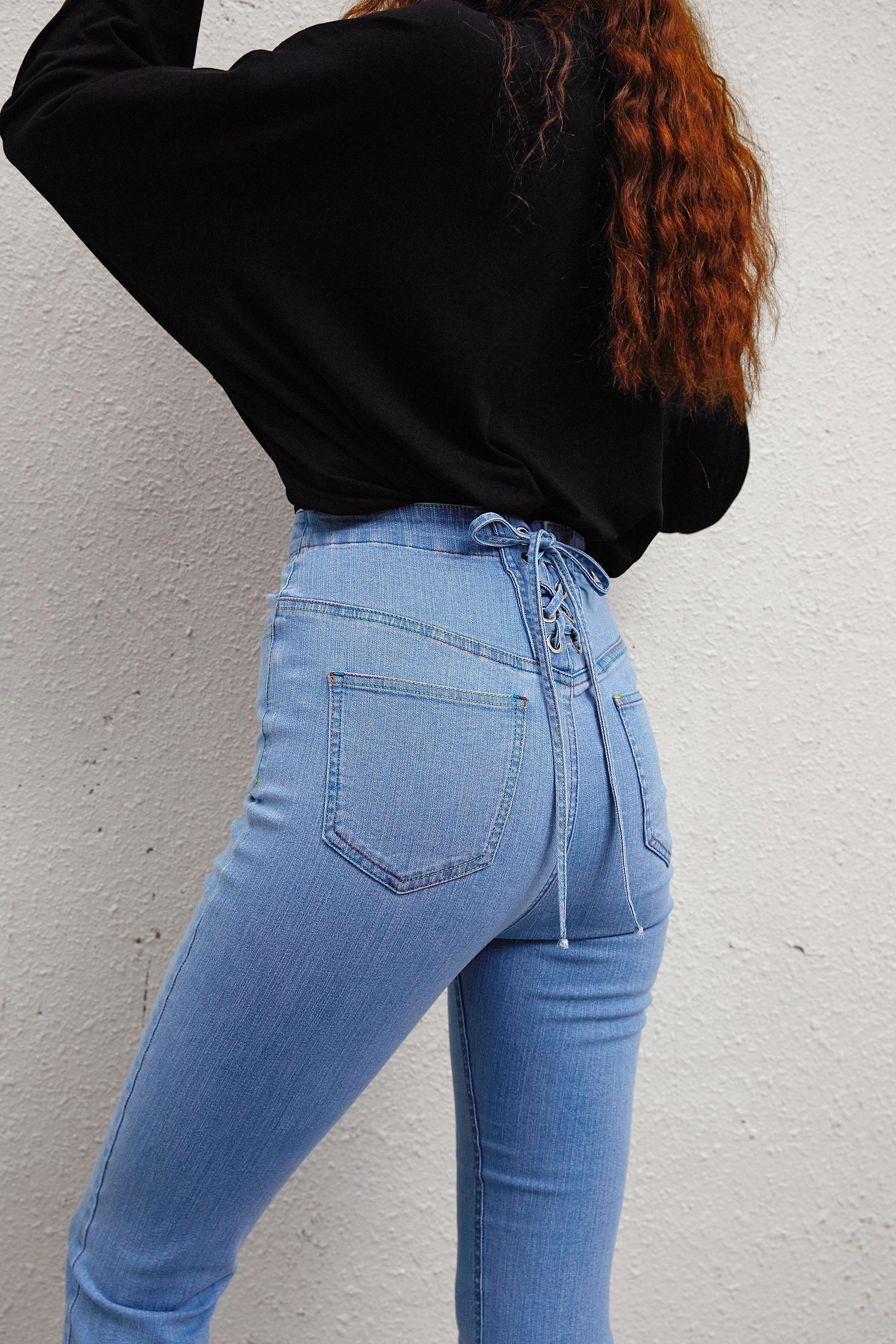 AUTUMN HIGH WAIST SKINNY JEANS-Cosmique Studio-aesthetic-clothing-store