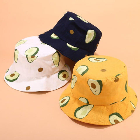 AVOCADO AND ICE CREAM BUCKET HAT-Cosmique Studio