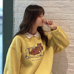 BEAR AND CHICKEN SOFT SWEATSHIRT-Cosmique Studio-aesthetic-clothing-store