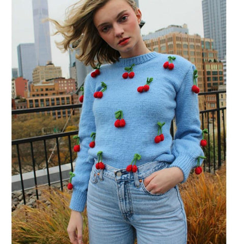 BEST CHERRY SWEATER-Cosmique Studio-aesthetic-clothing-store