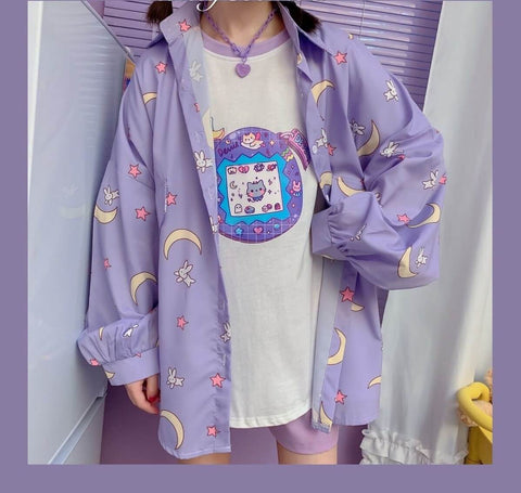 BEST KAWAII GIRL SHIRT-Cosmique Studio-aesthetic-clothing-store