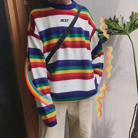 BEST RAINBOW SWEATER-Cosmique Studio