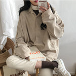 BF STYLE CORDUROY SHIRT-Cosmique Studio-aesthetic-clothing-store