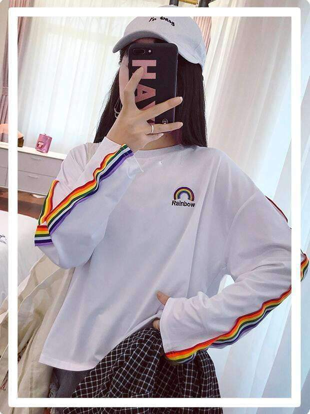 BLACKY RAINBOW SWEATSHIRT-Cosmique Studio