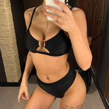 BRAZILIAN STYLE HIGH WAIST PUSH UP BIKINI SET-Cosmique Studio-Aesthetic Clothing Store