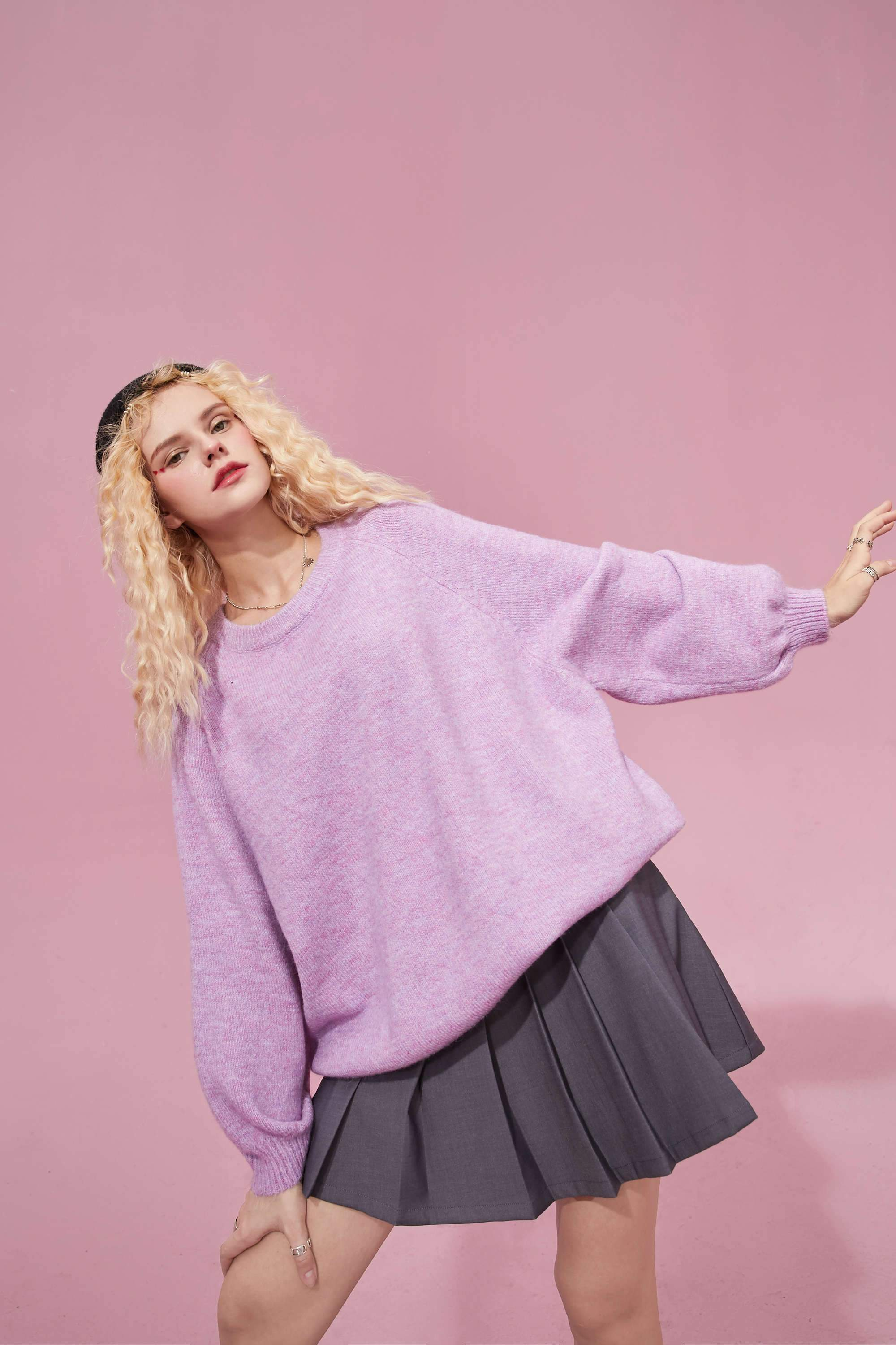 CANDY COLOR KNITTED SWEATER-Cosmique Studio-aesthetic-clothing-store