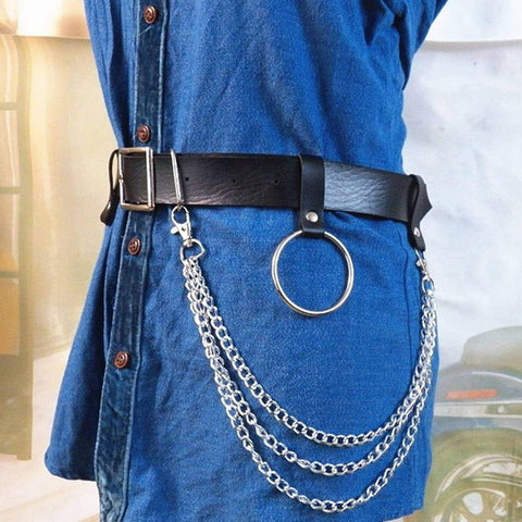 CHAINED HOLE BELT-Cosmique Studio