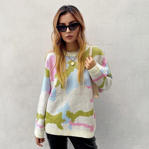 CHIC AUTUMN KNITTED SWEATER-Cosmique Studio-aesthetic-clothing-store