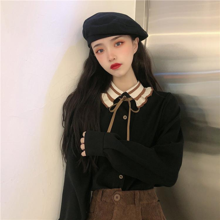 CHIC KOREAN STYLE STUDENT SHIRT-Cosmique Studio-Aesthetic-Outfits