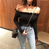 CHIC LONG SLEEVE CROP SWEATER-aesthetic-clothing-cosmiquestudio.com