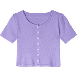 CHIC PURE BUTTON CASUAL CROP TOP-Cosmique Studio-Aesthetic Clothing Store