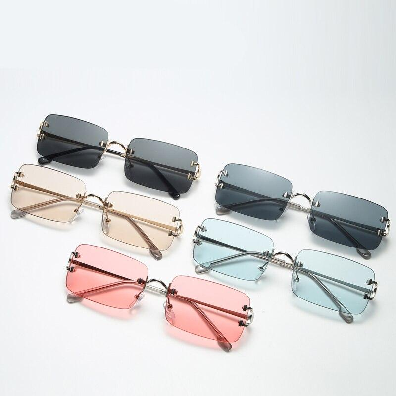 COOL GIRL RECTANGLE SUNGLASSES - Cosmique Studio - Aesthetic Outfits