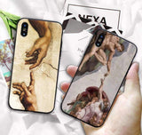 CREATION OF ADAM VINTAGE PHONE CASE-Cosmique Studio