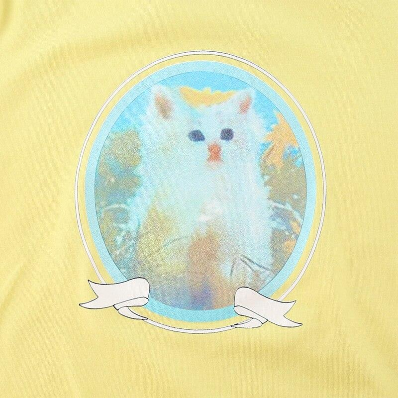 CUTE CAT CROP TOP-Cosmique Studio-Aesthetic Clothing Store