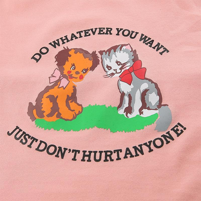 DO WHATEVER YOU WANT CUTE PINK CROP TOP-Cosmique Studio-Aesthetic Clothing Store