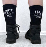 DON'T FOLLOW ME I'M LOST TOO SOCKS-Cosmique Studio
