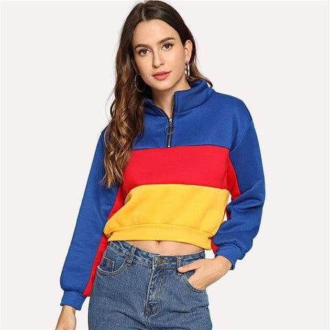 DOTFASHION COLORBLOCK SWEATSHIRT-Cosmique Studio